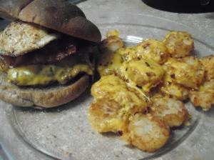 Bacon & Egg Burger 5