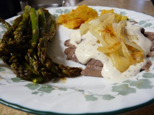 Smothered Steak in Parmesan-Peppercorn Sauce