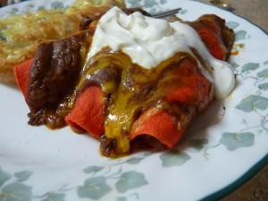 Peanut Butter Mole Enchiladas 2