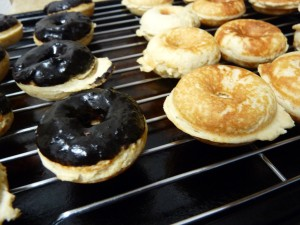 Baked Peanut Butter Doughnuts with Chocolate Glaze 2