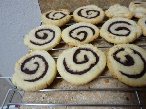 Chewy Coconut-Chocolate Pinwheels