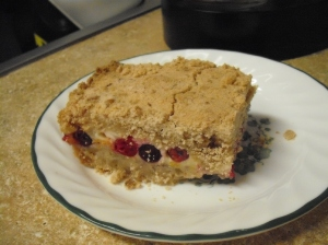 Cranberry Orange Cream Cheese Crumb Bars