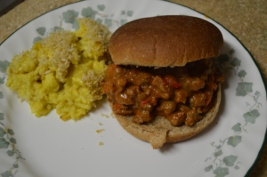 Sloppy Bombay Joes & Curry Cauliflower and Rice Casserole