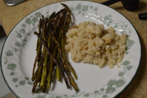 Walnut Risotto with Roasted Asparaus