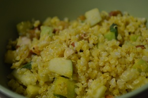 Quinoa and Apple Salad with Curry Dressing 2