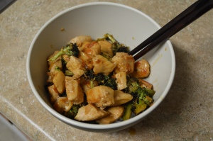 Chicken and Broccolini with Orange Sauce