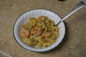 Four Minute Spicy Garlic Shrimp