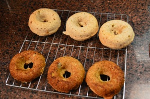 Baked Banana Doughnuts with Nutella Glaze 2