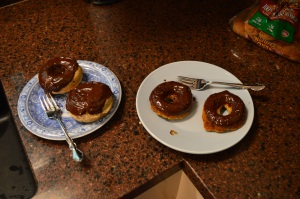 Baked Banana Doughnuts with Nutella Glaze 3