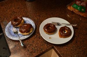Baked Banana Doughnuts with Nutella Glaze 3