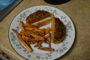 Turkey Burger with Grated Zucchini and Carrot