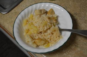 One Pan Pineapple Chicken and Rice