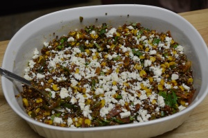 Summer Grilled Mexican Street Corn Quinoa Salad