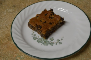 Flourless Chocolate Chip Cookie Bars
