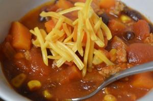 Slow Cooker Sweet Potato Chili 2