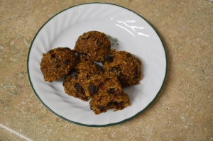 Flourless and Healthy Pumpkin Chocolate Chip Cookies