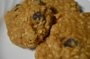 Chocolate Chip Peanut Butter Oatmeal Cookies 2